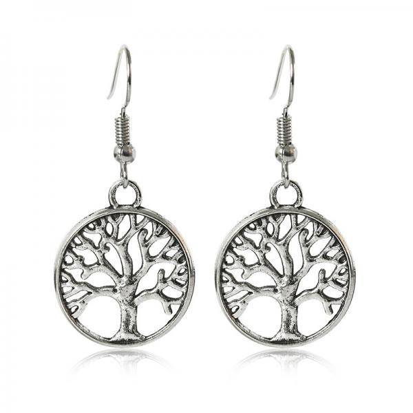 Silver plated vintage tree earring